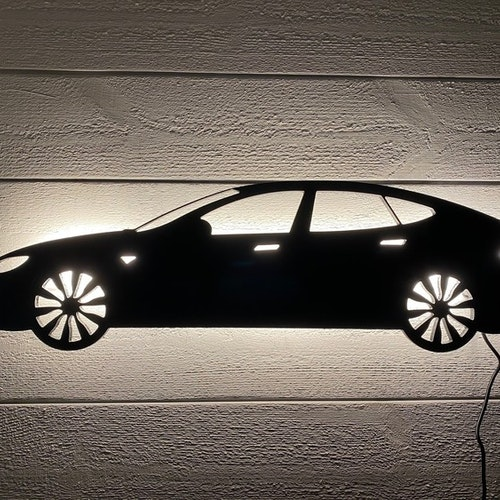 Vägglampa Bil TESLA modell S