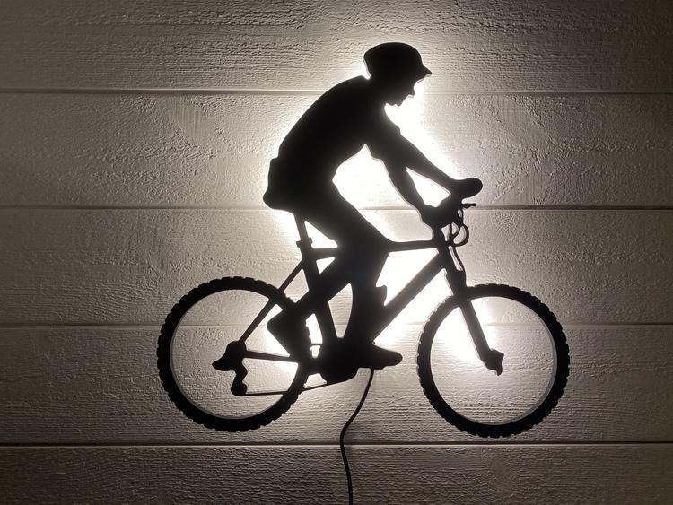 Vägglampa MTB Cyklist Herr
