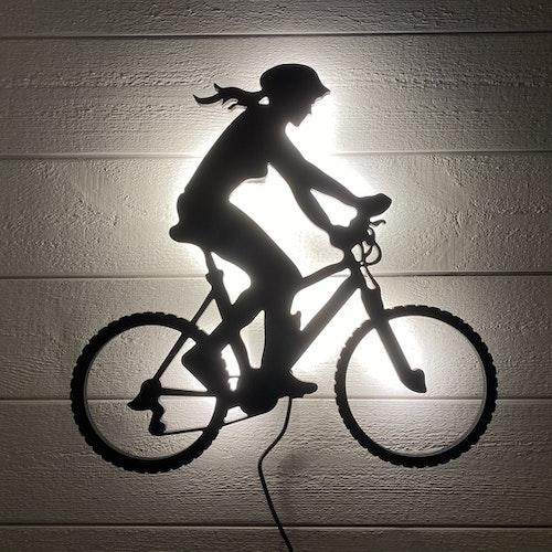 Vägglampa MTB Cyklist Dam