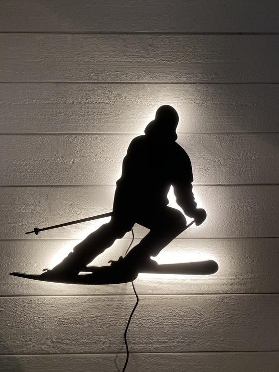 Vägglampa Slalomåkare