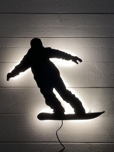 Vägglampa Snowboardåkare