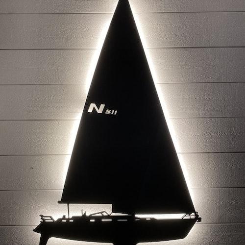 Vägglampa Segelbåt Najad 511