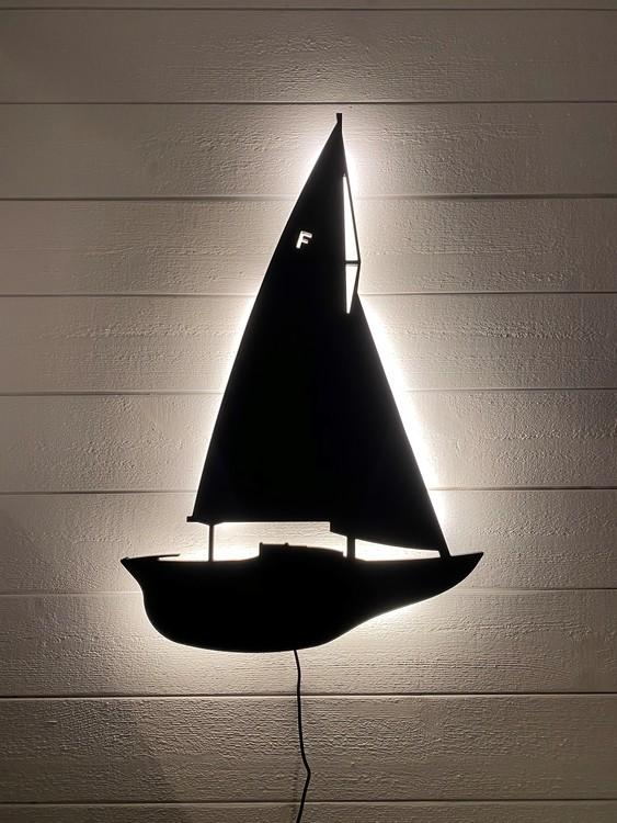 Vägglampa Segelbåt Nordisk Folkbåt