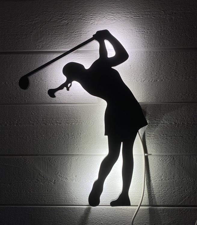 Vägglampa Golfspelare dam