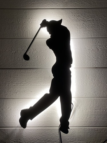 Vägglampa Golfspelare herr