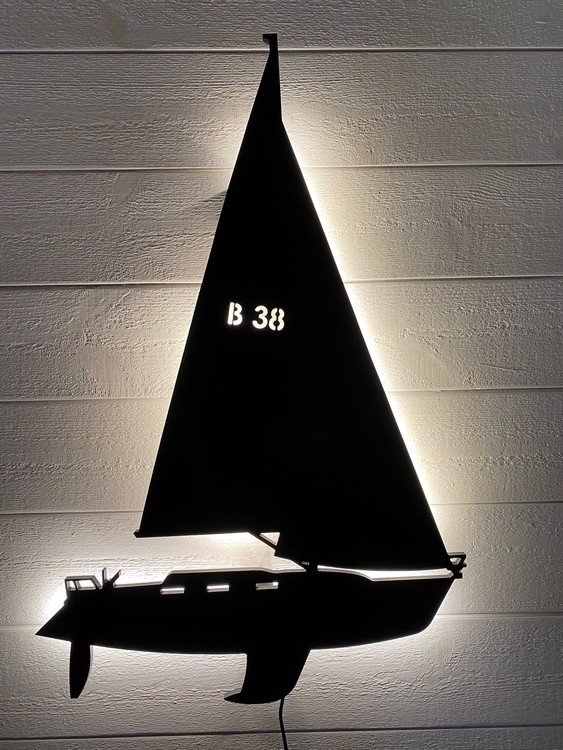 Vägglampa Segelbåt Bavaria 38