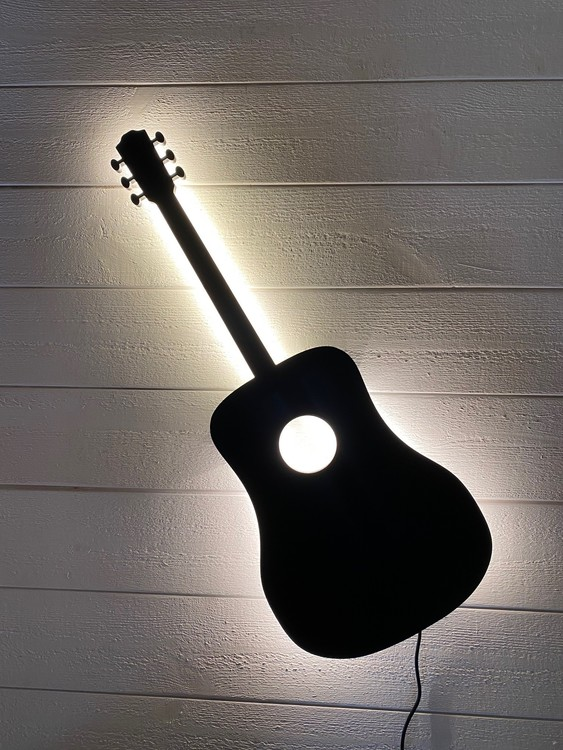 Vägglampa Akustisk Gitarr
