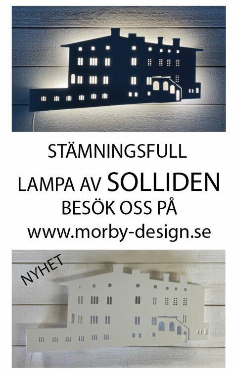 Vägglampa Solliden slott