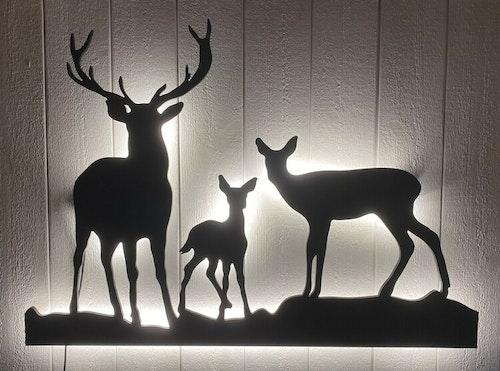 Vägglampa Hjort familj