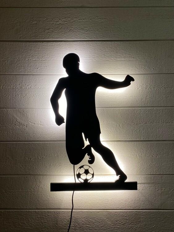 Vägglampa Fotbollspelare herr