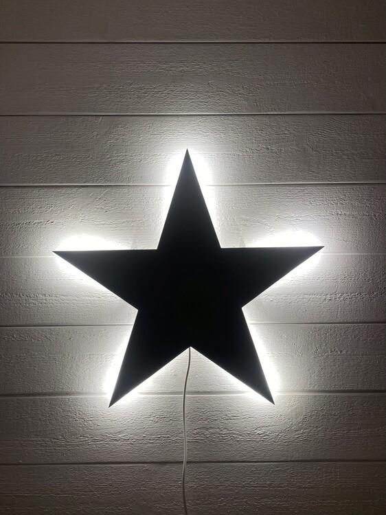 Vägglampa Black star