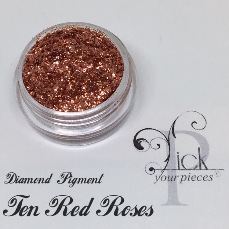 Diamond Pigment Ten red roses