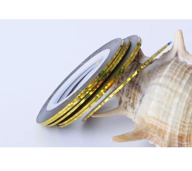 Striping tape holografiskt guld