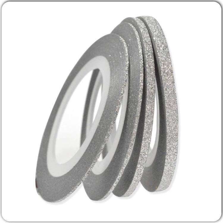 Striping tape glittrig silver