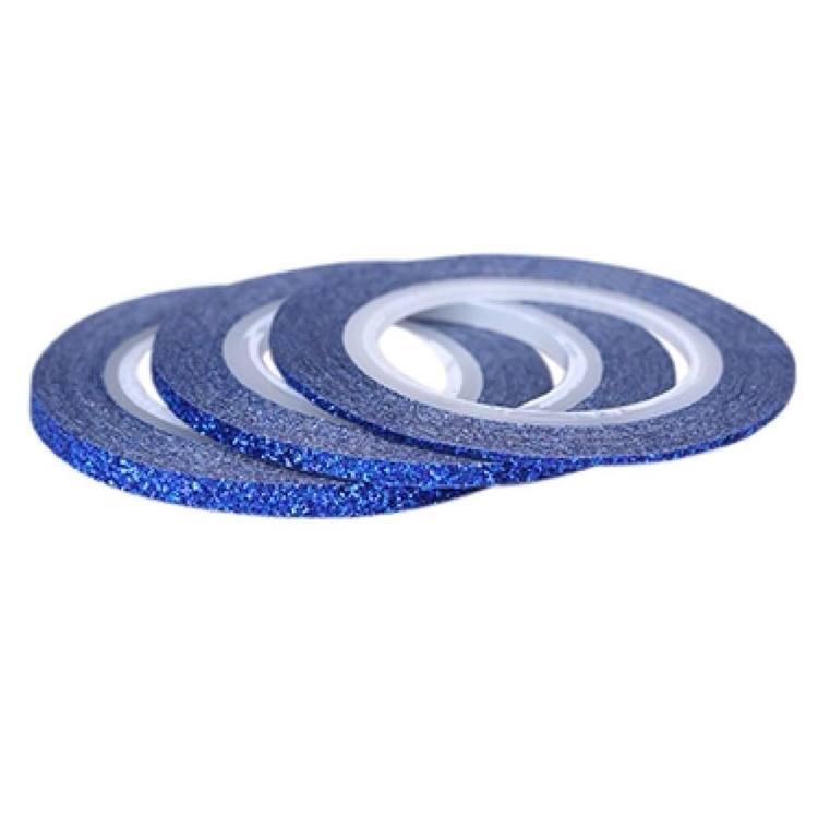Striping tape glittrig blå