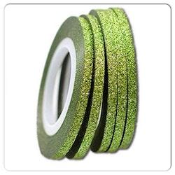 Striping tape glittrig grön