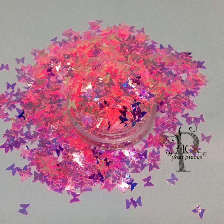 Butterflies Iridescent Barbie Pink