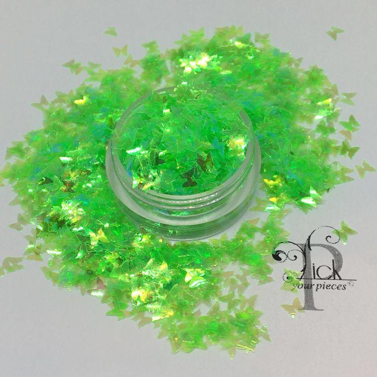 Butterflies Iridescent Lime