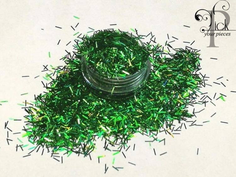 Tinsel Holo Green