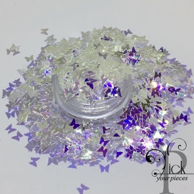 Butterflies Iridescent Crystal/Blue