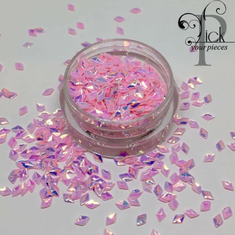 3D Rhombus Pearl Light Pink