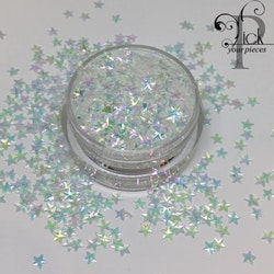 3D Stars Iridescent Purple/Green