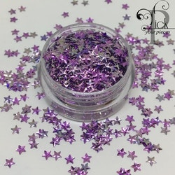 3D Stars Metallic Purple