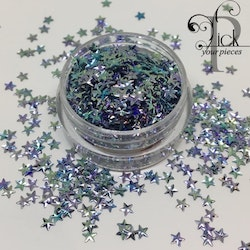 3D Stars Metallic Blue