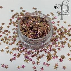 3D Stars Metallic Pink