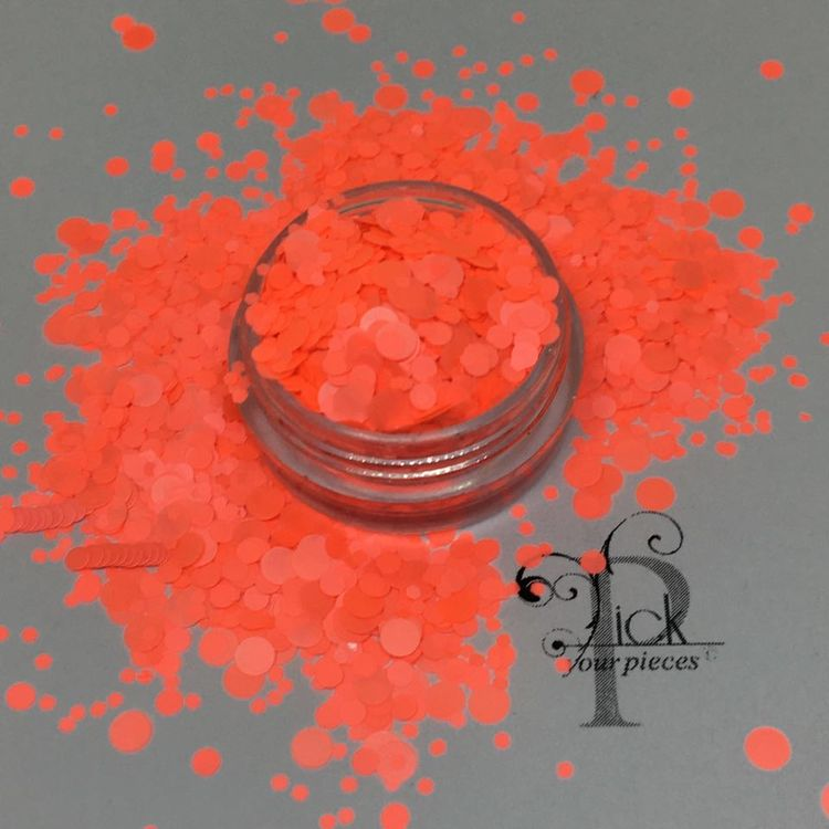 Dots Neon Coral