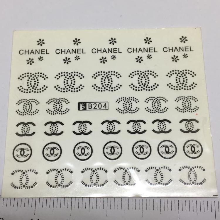 Waterstickers Chanel