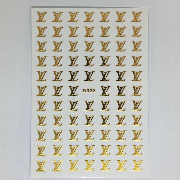 Stickers Logo Louis Vuitton Guld