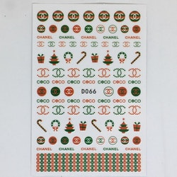 Stickers Logo Chanel Christmas