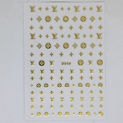Stickers Logo Louis Vuitton Gold