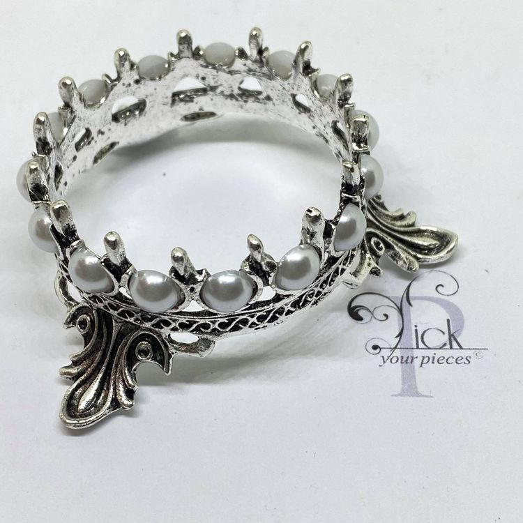 Pensel-hållare Krona Silver
