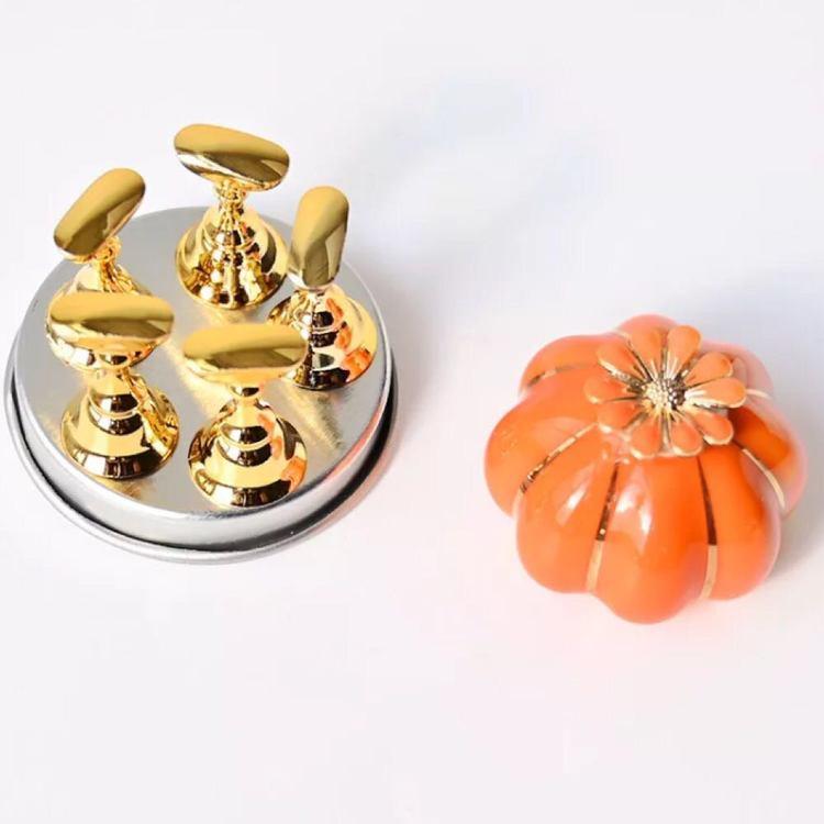 Magnetisk Nageldisplay Pumpa Orange