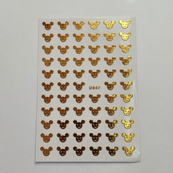 Stickers Musse Guld