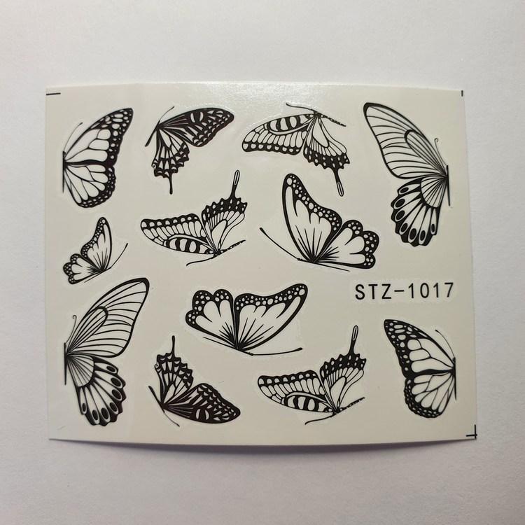 Waterstickers Fjäril