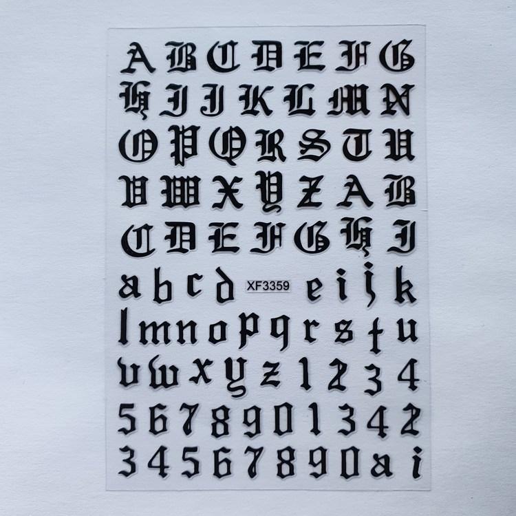 Stickers Viktorianska Bokstäver/siffror