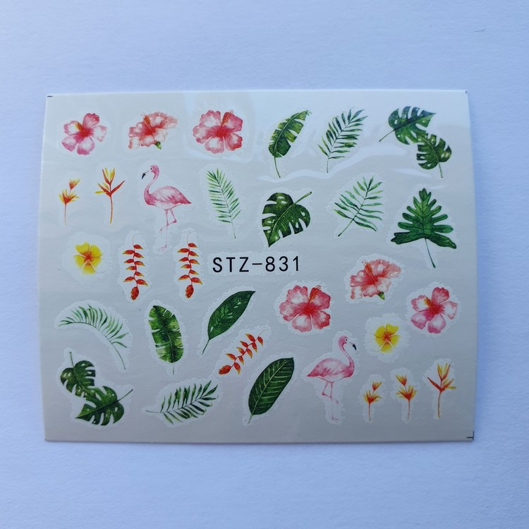 Waterstickers Blommor