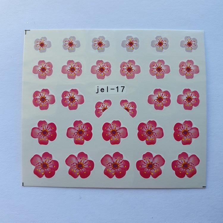 Waterstickers Blommor