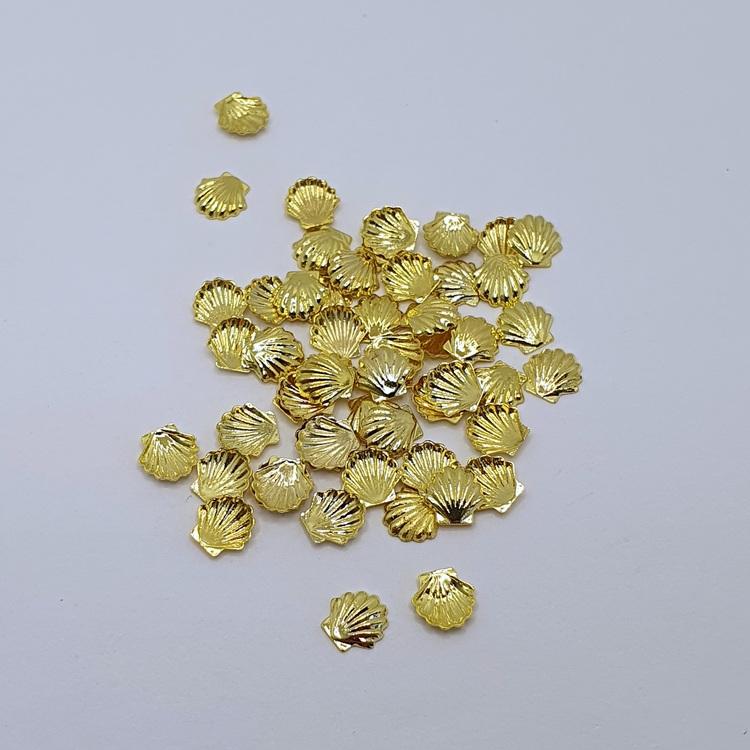 Metall Snäcka Guld
