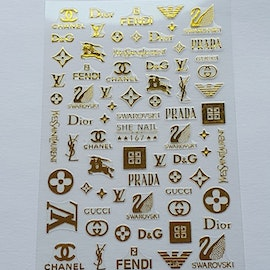Stickers Logo Mix Gold