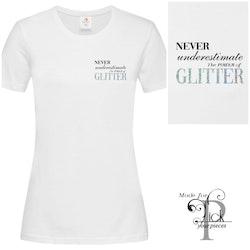 T-shirt GLITTER Vit