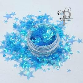 Big Mix Stars Iridesent Blue