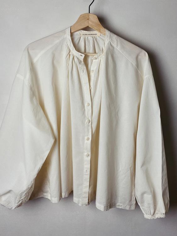 Art Blouse - Cotton white