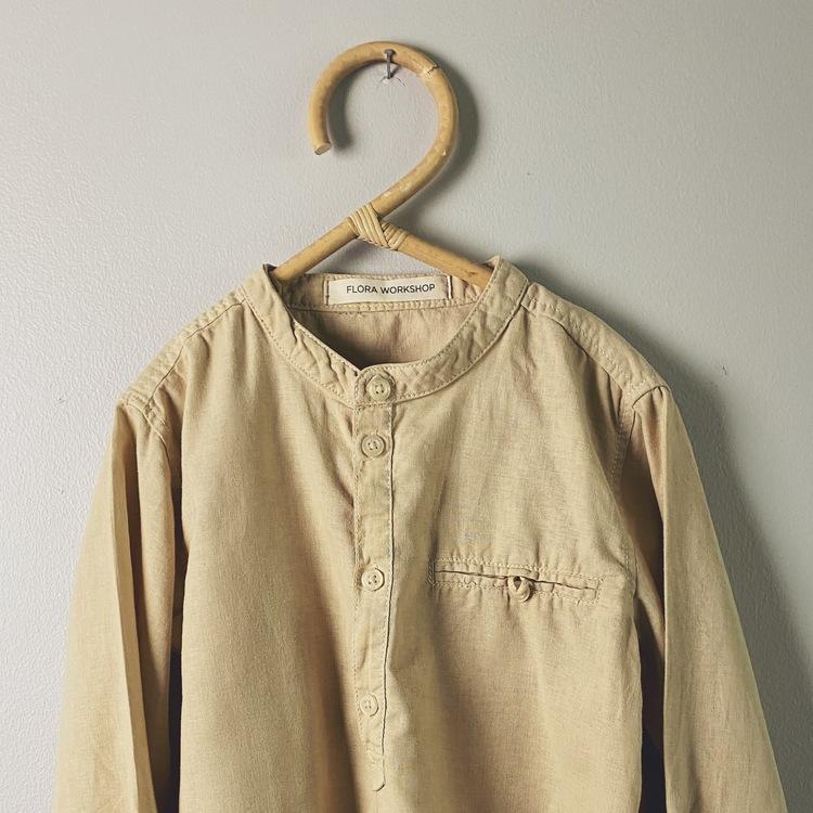 Grandad shirt - size 122 - Coffee