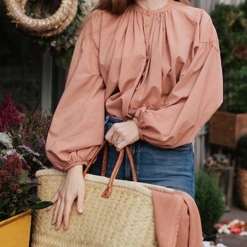 Art Blouse - Wooden Blush
