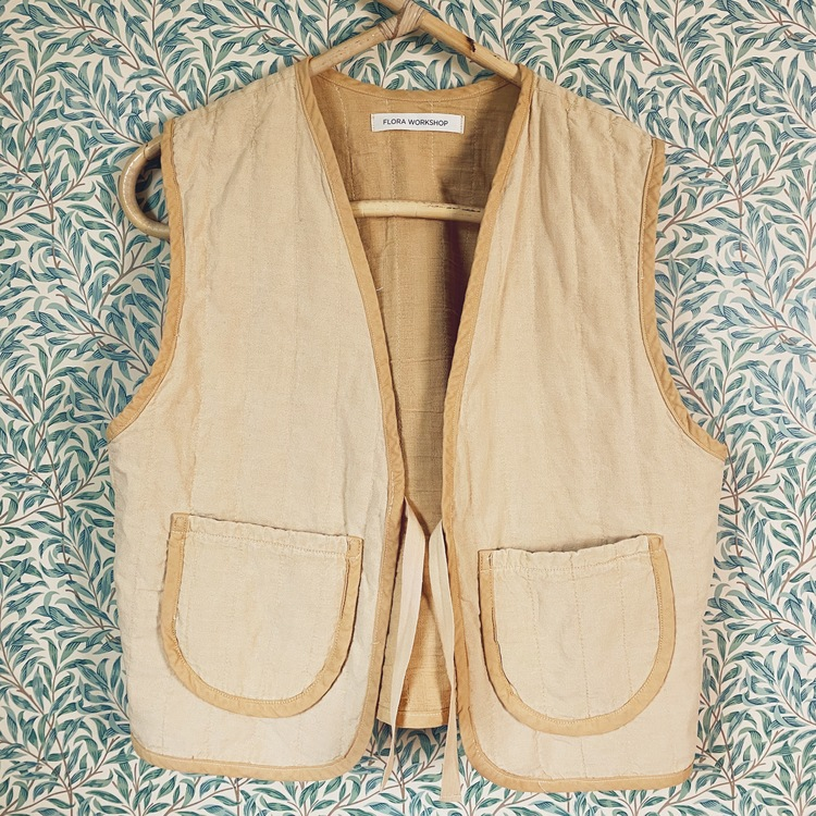 Quilted Vest - Birch yellow