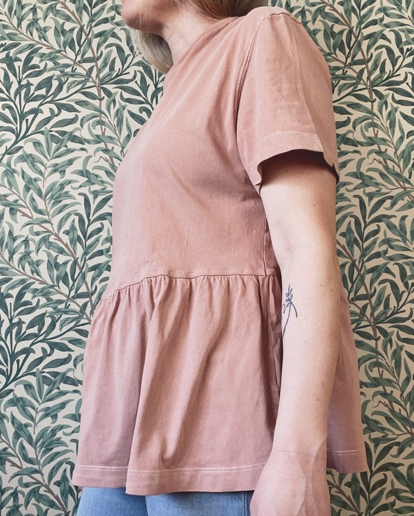 Tee size S/M - Wooden blush